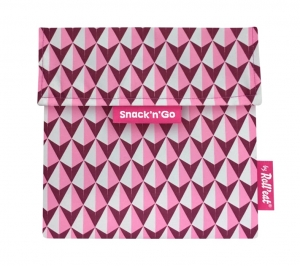 Roll'Eat Torebka Snack'n'Go Tiles Pink