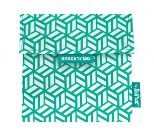 Roll'Eat Torebka Snack'n'Go Tiles Green