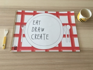 byHANA Eat, draw, create workbook - kreatywna kolorowanka