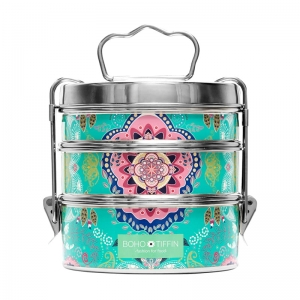 Boho Tiffin Lunchbox Paisley Large (3x750ml)