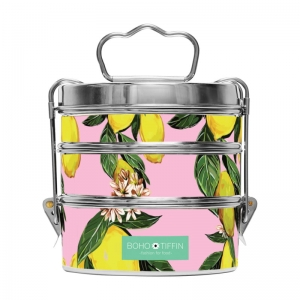 Boho Tiffin Lunchbox Juicy Lemon Large (3x750ml)