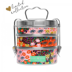 Boho Tiffin Lunchbox Oh la la Large (3x750ml)