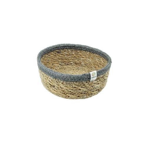 Chłodny Respiin Płytki koszyk z juty i trawy morskiej mały Natural/Grey ZF41